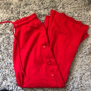 Nasty Gal Red Snap Pants